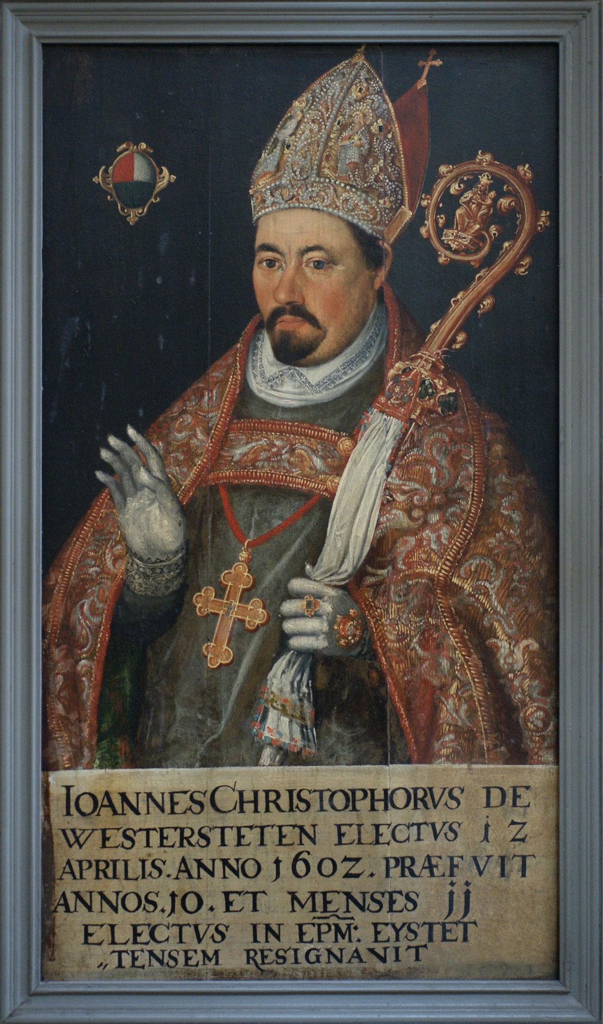 Bildnis Fürstpropst Johann Christoph I. von Westerstetten; Foto: Tourist-Information Ellwangen
