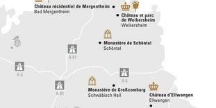 """Carte de région """"Hohenlohe et Ellwangen"""""""