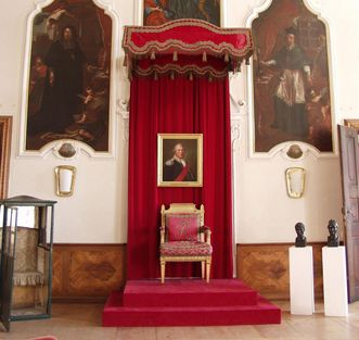 Thronsaal in Schloss ob Ellwangen