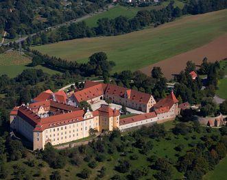 Schloss ob Ellwangen aus der Luft