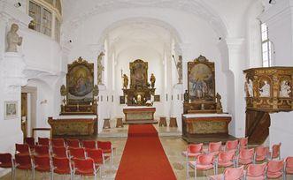 Chor der Schlosskapelle von Schloss ob Ellwangen