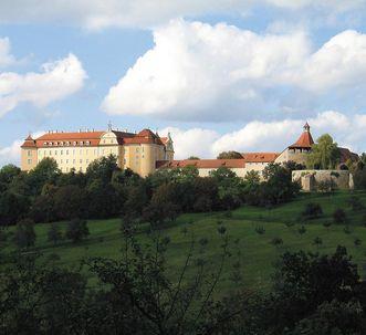 Ansicht von Schloss ob Ellwangen; Foto: Staatliche Schlösser und Gärten Baden-Württemberg, Urheber unbekannt