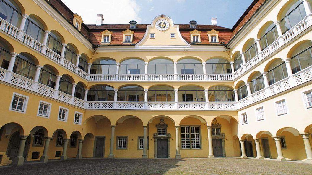 The Renaissance courtyard possesses rare beauty
