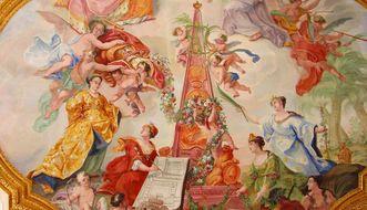Detail der Decke im Thronsaal von Schloss ob Ellwangen