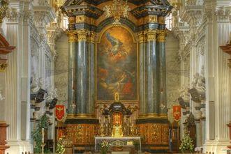 Chor der Wallfahrtskirche auf dem Schönenberg; Foto: Tourist-Information Ellwangen