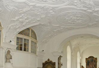 Decke der Schlosskapelle von Schloss ob Ellwangen