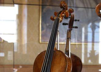 Violine im Musikzimmer von Schloss ob Ellwangen