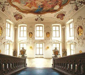 Treppenhaus von Schloss ob Ellwangen